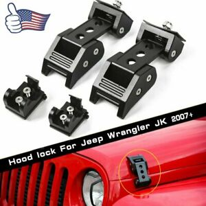 Hood Latch Locking Catch Buckle Unlimited Accessories For Jeep Wrangler Jk Jl