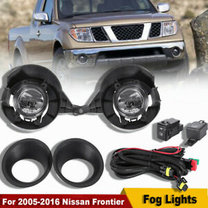 For 2005 2016 Nissan Frontier With Metal Chrome Bumper Fog Lights Full Kits Us