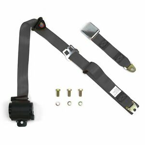 3 Point Retractable Airplane Buckle Charcoal Seat Belt 1 Belt Rv Parts Bbc V8