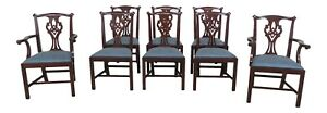 31391ec Set Of 8 Henkel Harris 101 Mahogany Dining Room Chairs