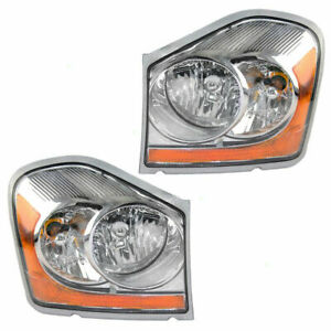 For Dodge Durango 2004 2005 Headlight Halogen Right Left Pair