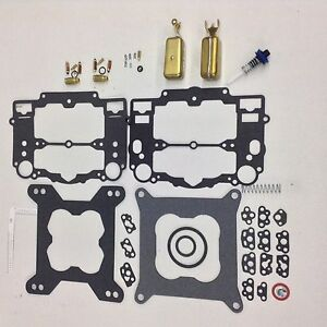 Edelbrock Carter Carb Kit 1400 1403 1404 1405 1406 1407 1409 1410 2 Brass Floats