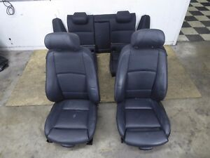 Bmw E92 Sport Leather Seat Seats Set Front Rear Black Oem 335i 328i Coupe