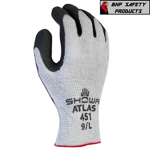 Showa Atlas 451 Therma Fit Insulated Winter Work Gloves Rubber Coating 1 Dozen