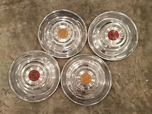 1954 1955 54 55 Cadillac Eldorado 15 Wheel Hub Caps Oem Set Of 4