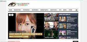 Killer Design established Profitable Makeup Video Website For Sale turnkey