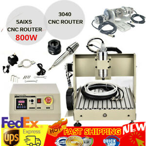 Usb 3040 5 Axis 800w Cnc Alum Router Machine For Metal Drilling Milling Engraver