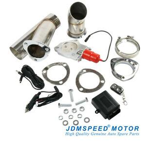 Jdmspeed 3 Electric Exhaust Muffler Valve Cutout System Dump Wireless Remote