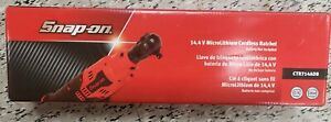 New Snap On 14 4 V 1 4 Dr Microlithium Cordless Ratchet Tool Only Ctr714adb
