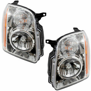 For Gmc Yukon 2007 2008 2009 2010 2011 Headlight Right Left Set Pair