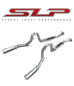1999 2004 Mustang Gt Mach 1 Loudmouth Ii Cat Back Exhaust System Slp M31007a