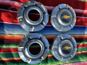 Set Of 4 1969 72 Chevy C10 Truck Dog Dish Poverty Hubcaps 10 1 2 4x4 1 2 Ton
