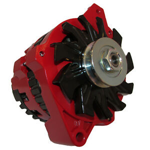 New 220 Amp High Output Red Alternator For Gm Chevrolet 65 85 1 Wire One Wire