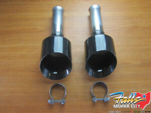 2019 2020 Ram 1500 Dt new Body Style Black 5 inch Exhaust Tips New Mopar Oem