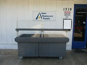 Cambro Kvc845 Camkiosk Portable Salad Bar Cart 4752