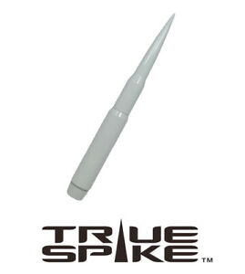 True Spike Billet 9 Long Fat Bullet Antenna White For Ford Pick Up Truck Suv
