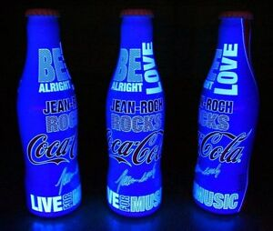 *See Hidden words under UV Black Light JEAN-ROCH ROCKS Aluminum Coca Cola Bottle