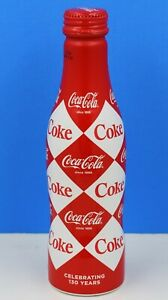 *Full 2016 Diamond Aluminum Coca Cola Bottle Harlequin Coke Netherlands SEALED!