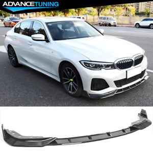 Fits 19 20 Bmw 3 Series G20 M Sport Front Bumper Lip Chin Spoiler Gloss Black