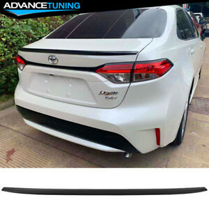 Fits 20 Toyota Corolla Sedan Ikon Style Rear Trunk Spoiler Wing Matte Black