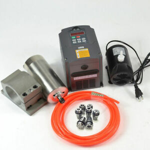 1 5kw Water Cooled Kit Spindle Cnc 110v Spindle Motor inverter clamp pump pipe