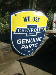 Chevrolet Chevy Genuine Part Embossed Metal Signs Man Cave Garage Cool 24 By19