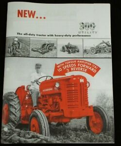 Ih International 300 Utility W Fast Hitch Ta Tractor Implement Color Brochure