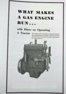 International Harvester what Makes An Engine Run Gas Engine Farmall Booklet
