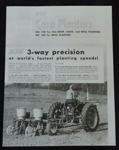 Ih Mccormick 249 250 Corn Planter Trailer Type International Farmall Brochure