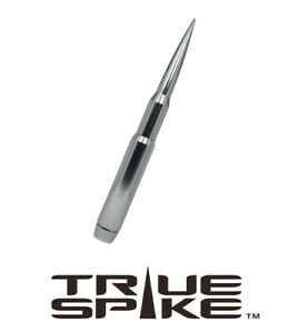 True Spike Billet 9 Fat Bullet Antenna Silver For 07 20 Chevy Silverado 1500