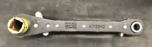 Klein Tools Kt155hd 5 In 1 Heavy Duty Lineman Ratcheting Wrench Used