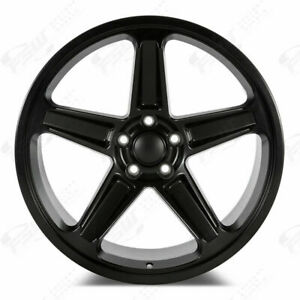 20 Rims Satin Black Stagger Demon Style Wheels Fit Dodge Challenger Charger