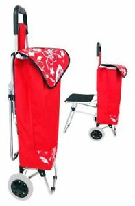 36 Rolling Shopping Utility Cart With Chair pack Of 1 Tc 17411