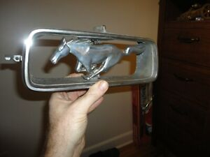 1960s Vintage Oem Ford Mustang Grille Emblem With Housing