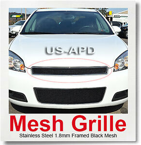 Fits Chevy Impala 2006 2013 Monte Carlo Stainless Black Mesh Grille 2006 2007