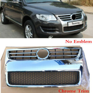 Fit For Vw Touareg 2008 2010 Front Bumper Center Grille Radiator Grill Chrome