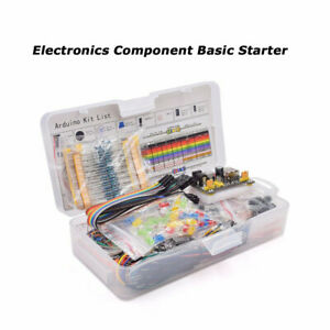 Electronics Component Basic Starter Kit W 830 Tie points Breadboard Power Supply