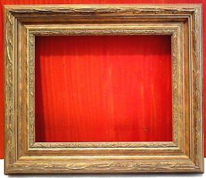 24 X 30 Standard Picture Frame 3 Wide Gold Leaf Classic Carved Canvas Allowance