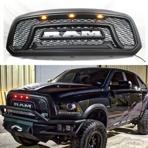 Front Grille Grill For Dodge Ram 1500 2013 2018 Mesh Rebel Style Abs Honeycomb