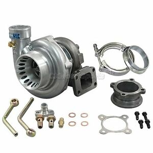 Cxracing Gt35 T3 Turbo Charger Anti Surge 500 Hp W All Accessories 3 V Band