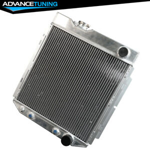 Fits 64 66 Ford Mustang Shelby 62mm Performance Aluminum Racing Radiator At Mt