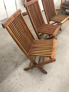 Wellesley Manor Teak Deck Patio Chair Lounge Mid Century Modern Danish Patio