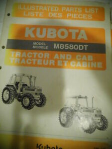 1991 Kubota Illustrated Parts List Tractor Cab M8580ta Diagrams Manual