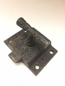 Eastlake Iron Brass Hoosier Cabinet Cupboard Door Slide Latch No Catch Keeper