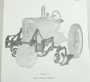 Mccormick Hm 19 M 19 2 Row 3 Row Middle Buster Farmall H M Owner s Manual