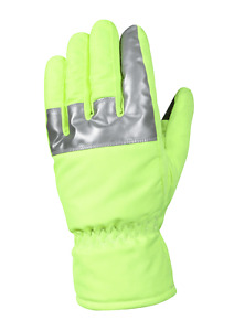Rothco Hi visibility Safety Green Gloves With Reflective Tape 5487