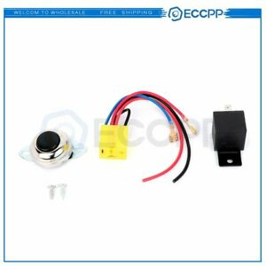 Air Horn Wiring Kit With Horn Button Switch For Motorcycle Boat Car Marine Horn