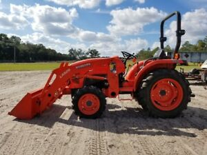Kubota L3301 Tractor Loader 4wd Diesel Rops All Demo Hours Great Condition