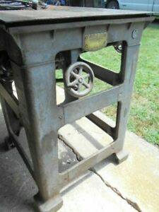 Rare Wallace Wilkerson Table Saw W origional Extension 2 Fences