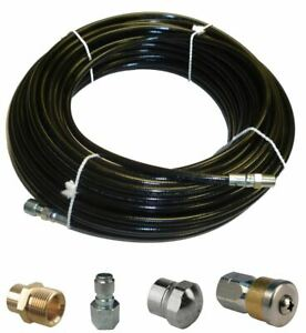 Sewer Jetter Kit 100 X 1 8 Hose 2 Nozzles And 2 Fittings 1 To 3 Pipes
